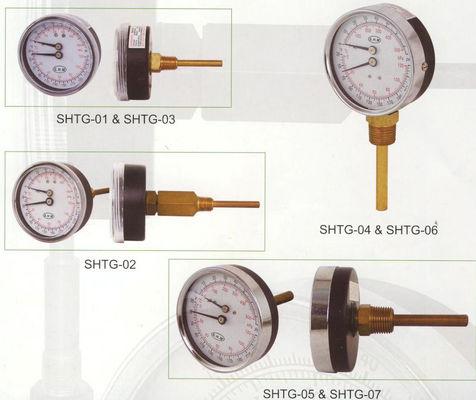 De Buena Calidad Marque el indicador de 80m m Tridicator, indicador de la temperatura para las calderas de agua caliente Venta