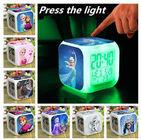 Los colores congelados del despertador LED 7 cambian los juguetes que brillan intensamente coloridos congelados despertador de la noche del termómetro de Digitaces Ana Elsa